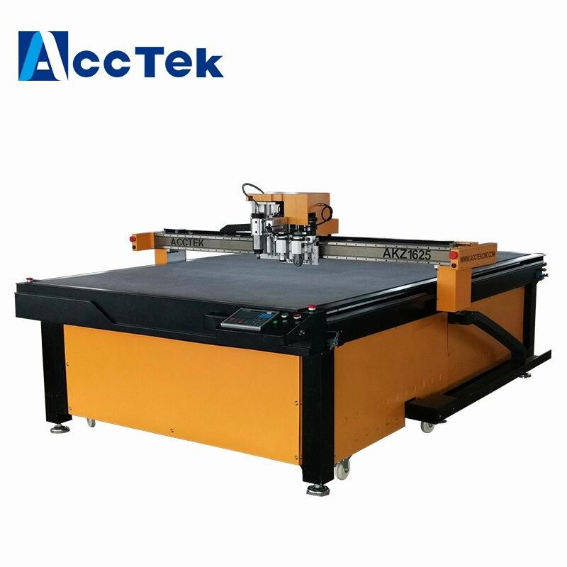 AccTek panel de absorción acústica cuchillo máquina de corte de cnc 1625 silenciador de cuchillo cortador