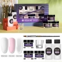 rosalind acrylic powder nail kit poly nail extension gel carving manicure nail brush builder gel acrylic powder for nails set