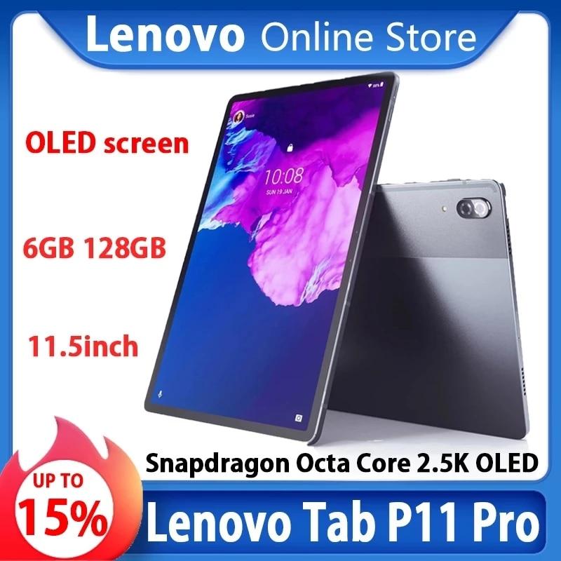 Lenovo-tablet tab p11 pro, processador snapdragon 730 octa-core, 6gb ram, 128 gb rom, 11.5 polegadas, tela oled 2.5k, bateria 8500mah, android 10