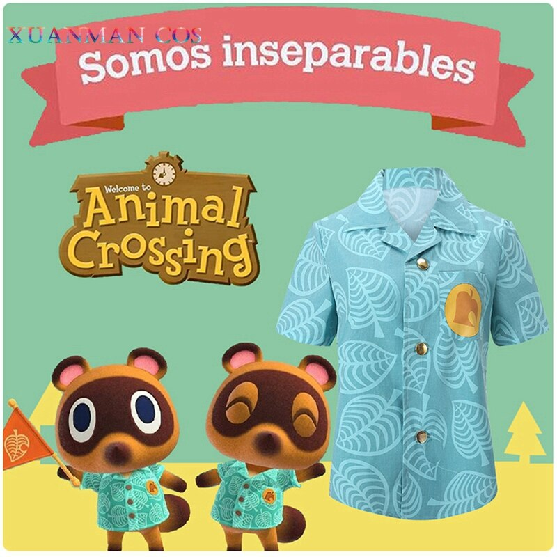 Camiseta 2020 Animal Crossing, disfraz de cosplay para mujer y hombre, moda Tom Nook, camisetas de manga corta, Nuevos Horizontes, camisetas y camisetas Timmy