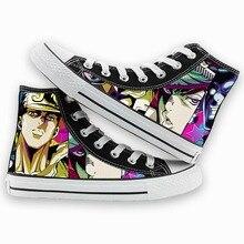 Unisexe Anime JoJ Bizarre aventure DIO décontracté toile chaussures Jonathan Joestar Kujo Jotaro plat plimsolls canard chaussures baskets