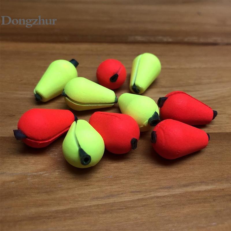6 peças float espuma lágrima gota greve indicador de pesca equipamento pesca com mosca acessórios amarelo vermelho