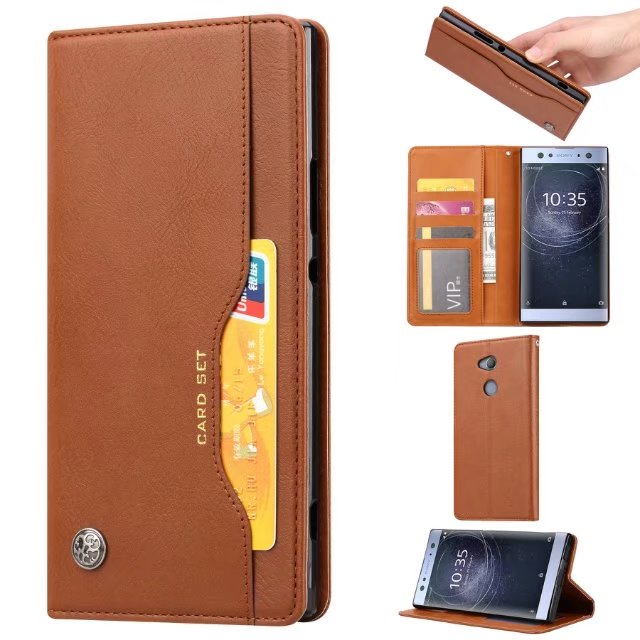 Funda para Sony Xperia XA3 10 XZ4 1 XA2 Ultra XZ2 L2 Compact Premium XZ3 funda Flip Stand PU cuero tarjeta cartera funda de bolsa de teléfono