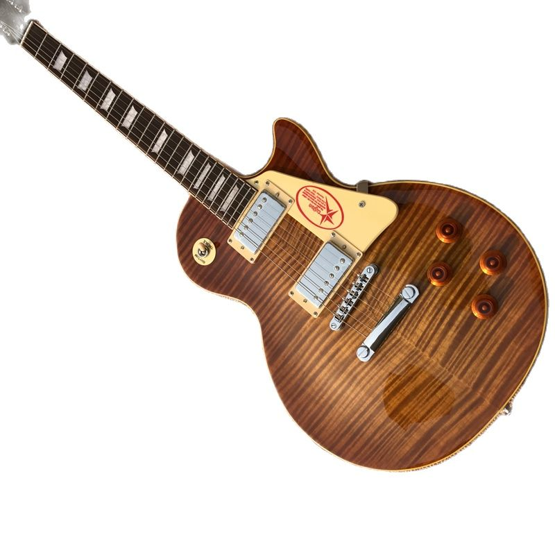 Guitar Exclusive Quality. 6 String Electric Guitar, Mahogany fingerboard, Tiger Flame Maple Top, Free Delivery enlarge