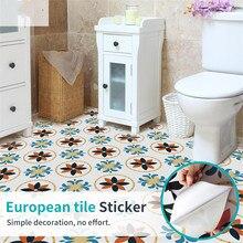 Stickers muraux étanches carreaux de sol   Motif de couleur, papier peint adhésif pour la maison, décoration de cuisine, de salle de bains, autocollant de sol