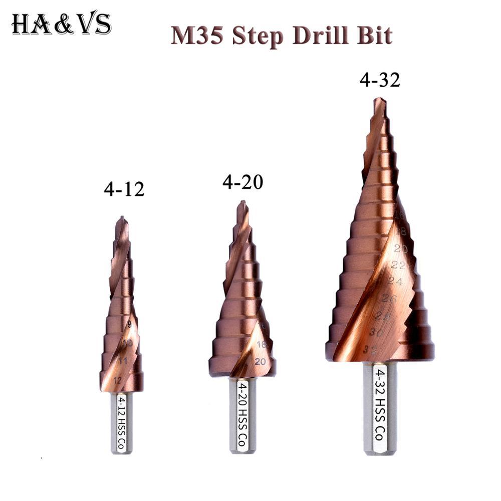 M35 5% Кобальт HSS ступенчатое сверло HSS CO высокоскоростной стальной конус треугольный хвостовик металлические сверла набор инструментов резе...