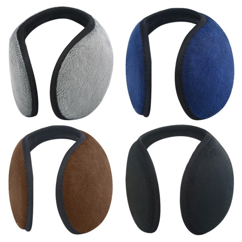 Unisex Solid Winter Earmuffs Women Men Ear Cover Protector Thicken Plush Soft Warm Earmuff Warmer Ap