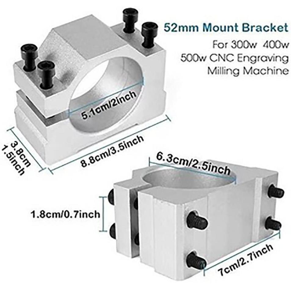 ER11 Chuck CNC 500W Spindle Motor with 52mm Clamps and Power Supply Speed Governor enlarge