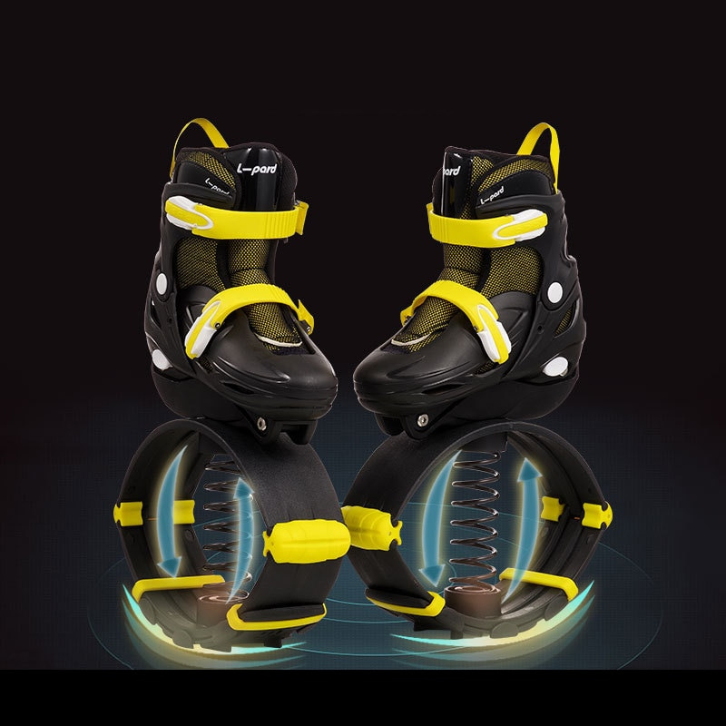 2 in 1 Adult Children Inline Skates Bounce Jump Fitness Exercise Shoes Adjustable  Jumping Boots kangaroo Skates Shoes Patines