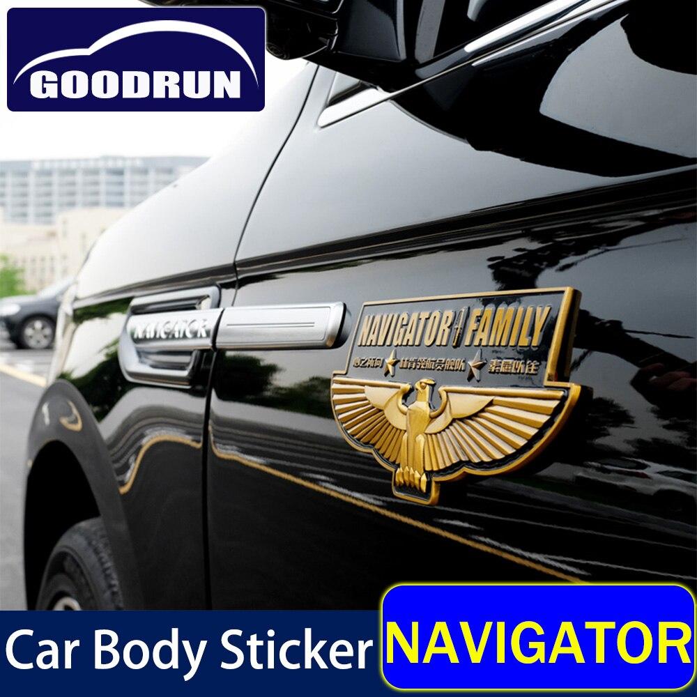 Автомобильный клуб стикер тела для Линкольна навигатор 3D автомобильный клуб памятная наклейка эмблема наклейки внешние автомобильные акс...