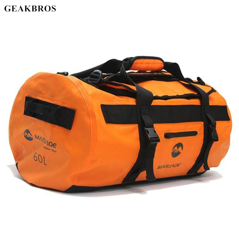30/60/90L Waterproof Swimming Bag PVC River Tracing Dry Sack Storage Rafting Boating Kayaking Trekking Swimming Travel Bag