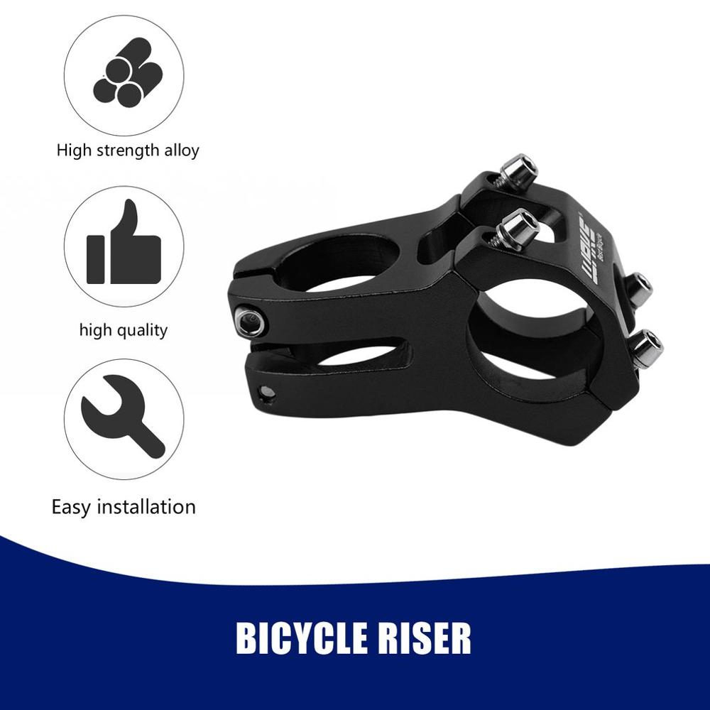31.8mm adjustable Bicycle Stem Bicycle MTB Bike Aluminum Short Handlebar Stem Riser Fixed Bike Bar Stem WHolesale