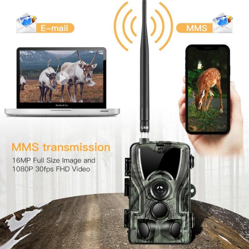 HC801M cámara de rastreo para caza 0,3 S Trigger Wildlife cámaras infrarrojas 2G MMS foto Video vigilancia 16MP 1080P SMS visión nocturna