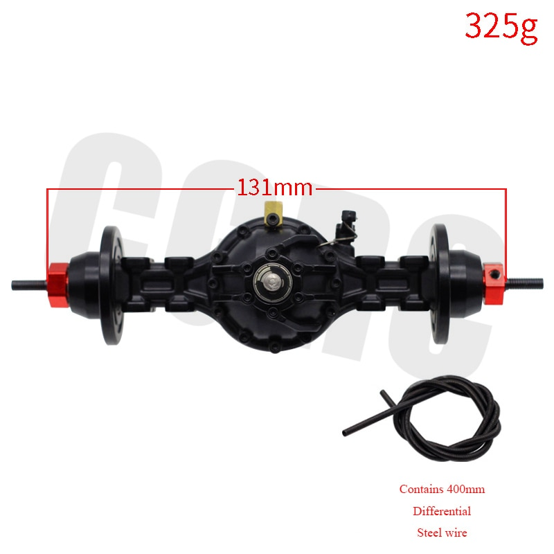 CNC Metal Alloy Front Rear Medium Differential Axle Built-in Gear For 1/14 Tamiya RC Truck  SCANIA R470 R620 FH12 ACTROS enlarge