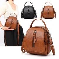 messenger bag women vintage soft leather shoulder bags women multi compartment female handbags small crossbody tote zipper bags