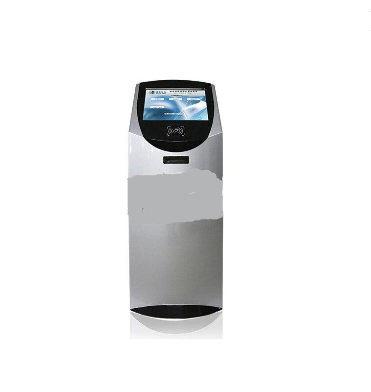 Quiosco de una sola pantalla de 22 pulgadas con soporte de teclado de metal, kiosco de terminal de autoservicio de información de pantalla táctil