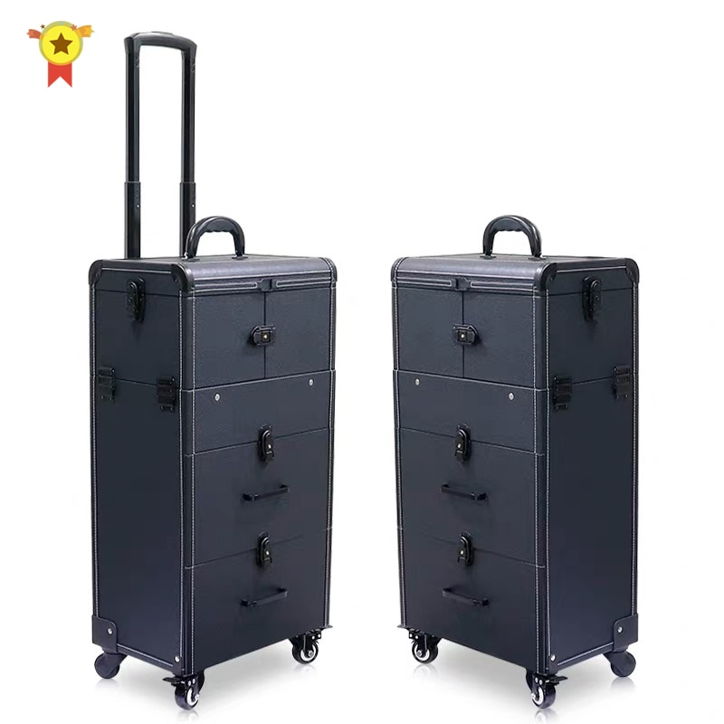 2020 trolley Cosmetic case bags suitcase For Makeup bag Women multi-layer large-capacity Beauty Luggage Box with wheels