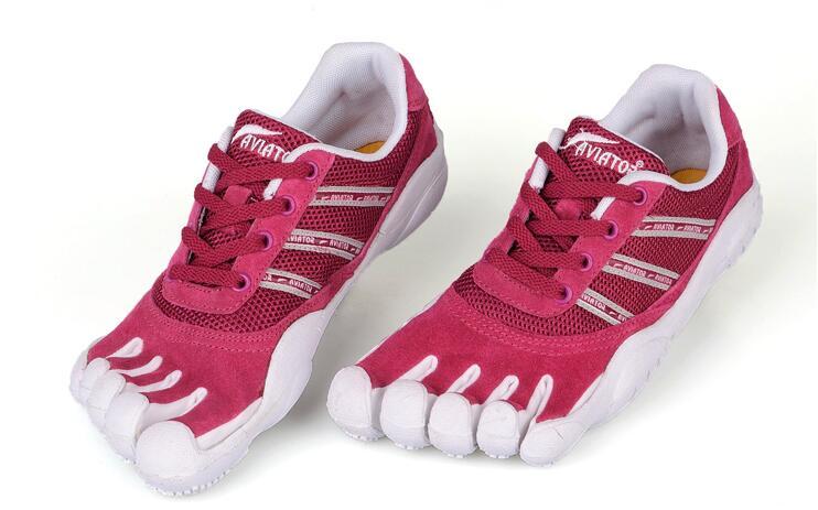 Mulher cinco dedos sapatos femininos 5 toe sapatos senhoras respirável antiderrapante caminhadas trekking tênis das mulheres casuais