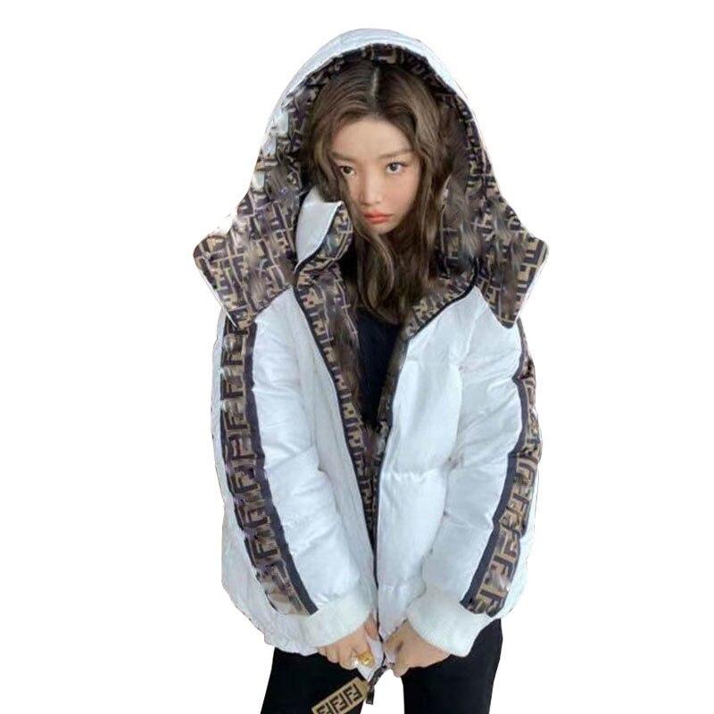 Куртка-бомбер женская зимняя короткая, с капюшоном