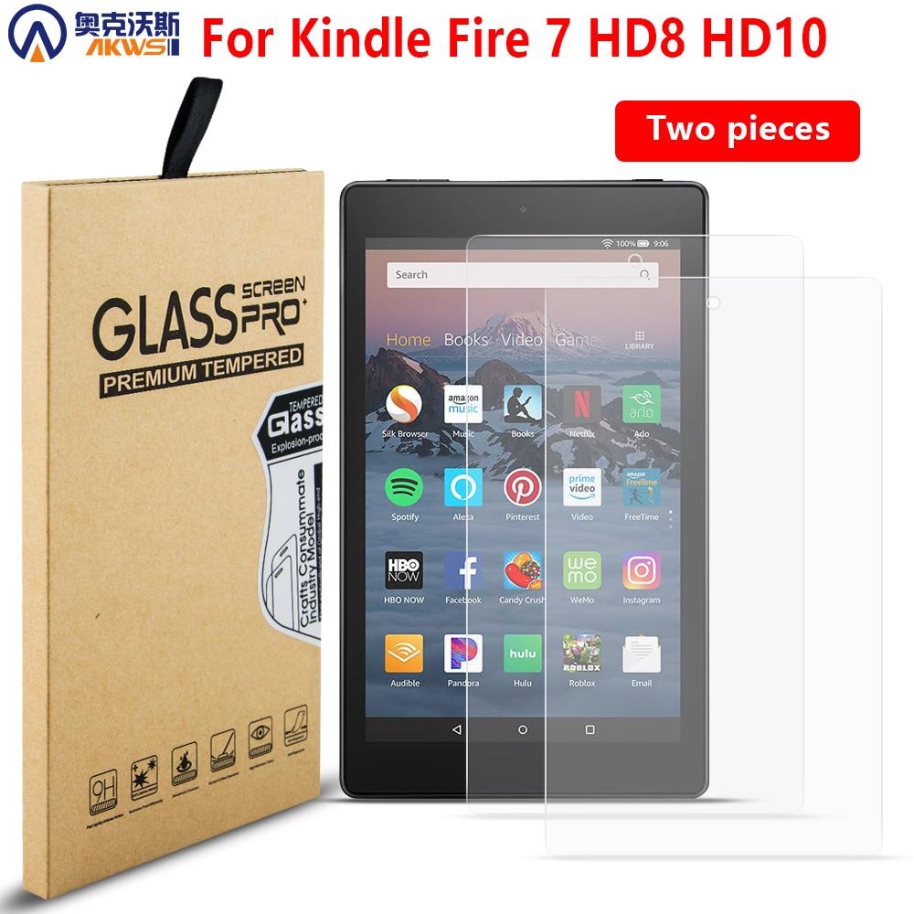 Protector de pantalla de vidrio templado para amazon kindle fire 7 HD 8 HD10 pantalla protectora a prueba de arañazos capa para tablet kindle fire