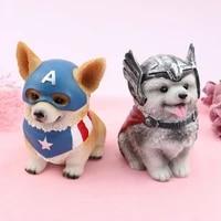 european and american style avenger cute pet dog piggy bank handmade pet golden retriever keji piggy bank jewelry