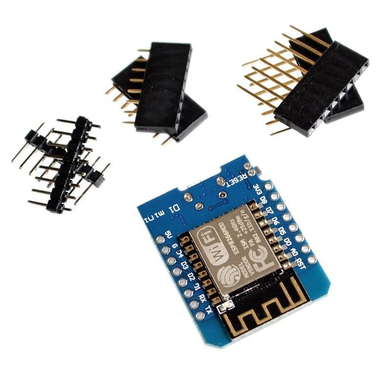 EQV D1 Mini ESP8266 ESP-12 CH340G CH340 ESP-12F V2 USB WeMos WIFI Development Board D1 Mini NodeMCU Lua IOT Board 3.3V With Pins недорого
