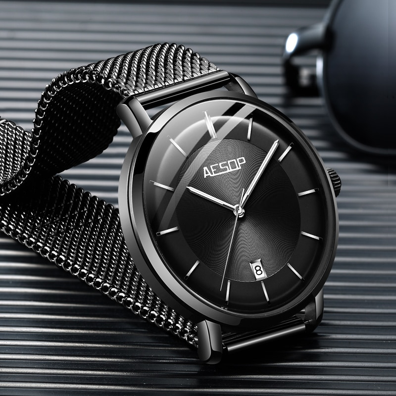 AESOP Brand Fashion Automatic Business Watch Luxury Luminous Waterproof Calendar Mechanical Wristwatch For Men Relogio Masculino enlarge