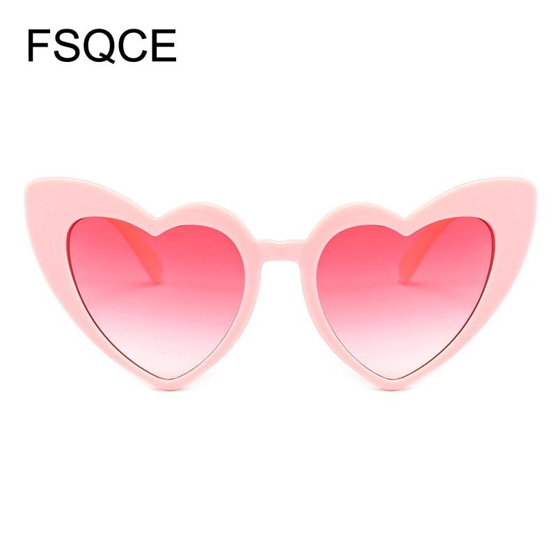 Gafas de sol redondas de corazón gafas de sol mujer marca diseñador gafas de sol Retro amor en forma de corazón de gafas de las señoras de compras gafas UV