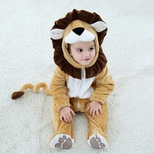 Newborn Baby Clothes Boy Girl Romper 0-3Y Baby Jumpsuits Cosplay Costume Infant Animal Lion Ropa Beb