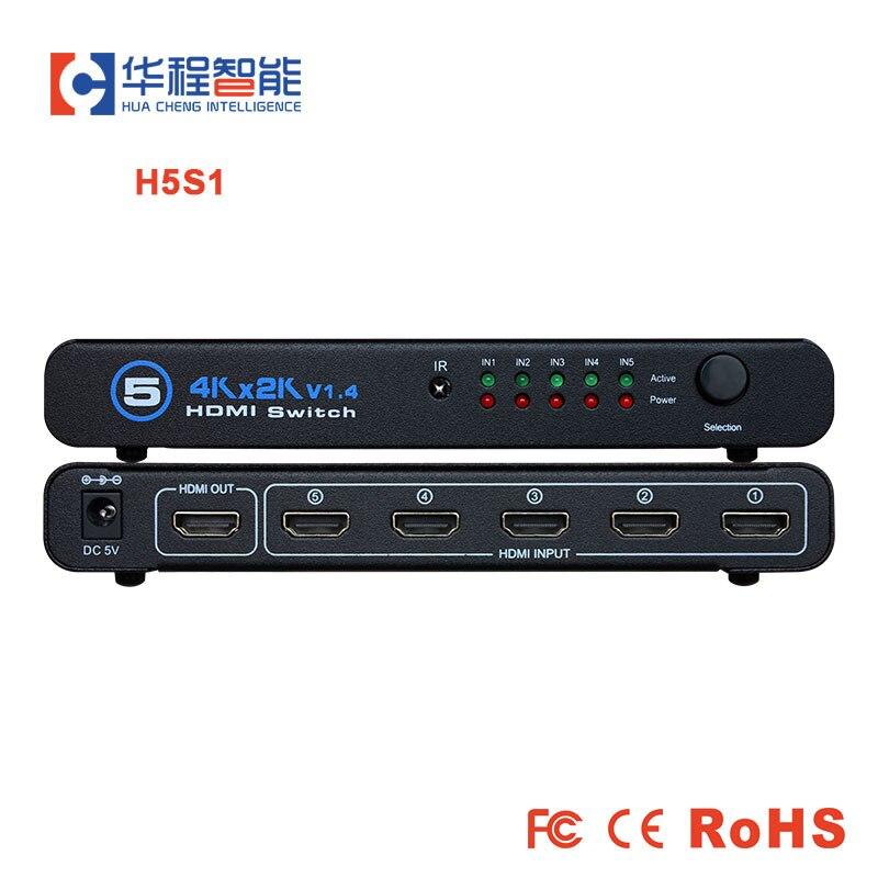 4K HDMI Compatible con interruptor divisor 5X1 adaptador 5 en 1 HDMI-1.4...
