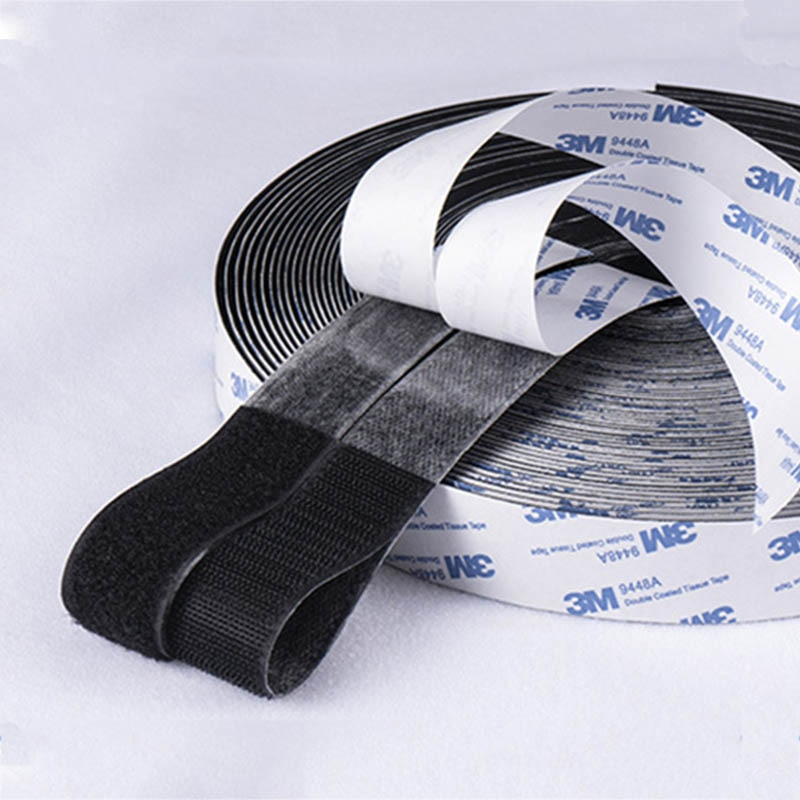 AliExpress - 1Meter Strong Self Adhesive Glue Hook And Loop Fastener Tape Nylon Sticker Velcros Adhesive For DIY Accessories 16/20/30/38/50mm