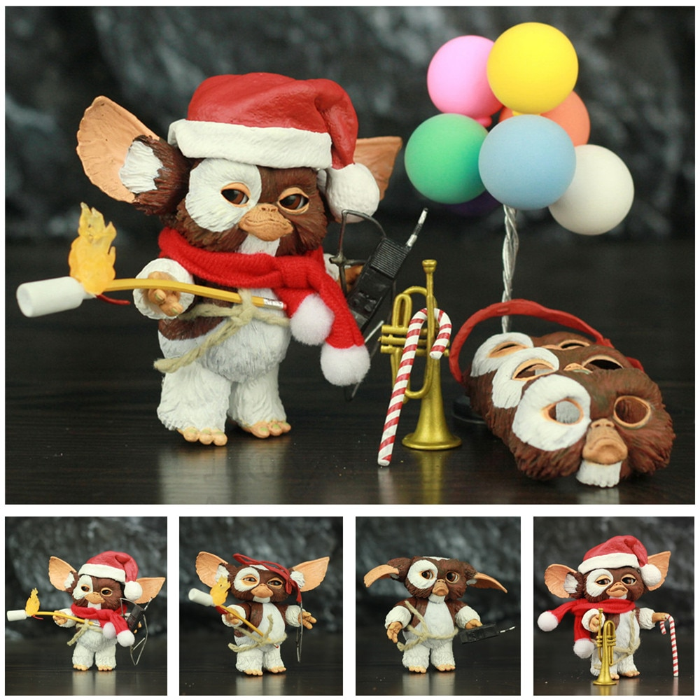 Gremlins Ultimate Gizmo Deluxe 7 дюймов экшн-фигурка в масштабе с рождественским шарфом шапка Санты труба лук карандаш стрелы игрушки NECA кукла