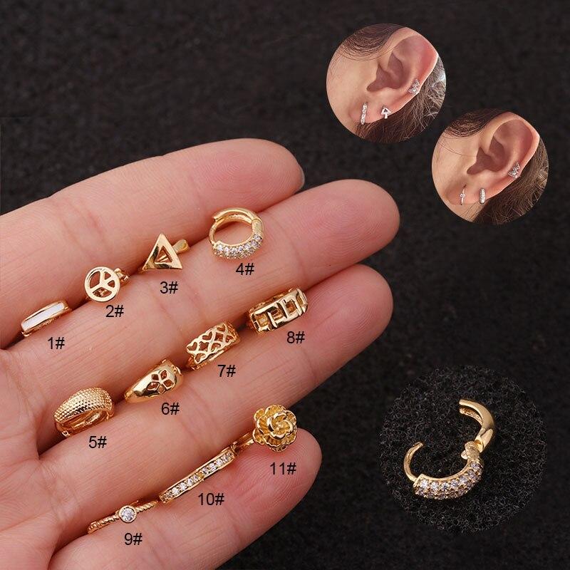 1 pc novo minúsculo aro helix piercing jóias pequena argola cartilagem tragus rook daith lóbulo brinco
