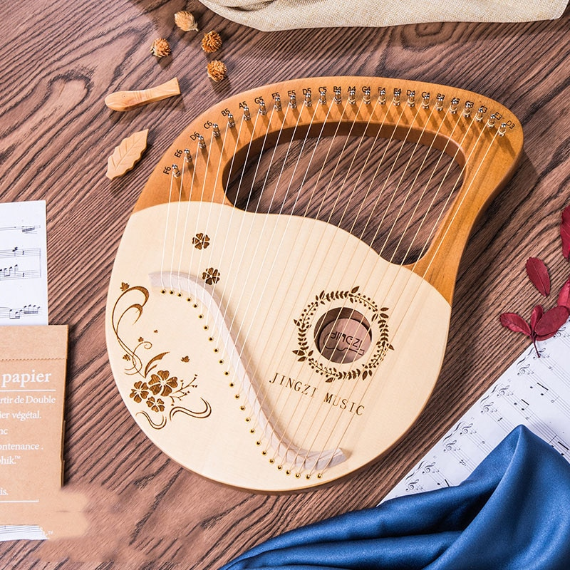 Strings Kit Instrument Harp Accessories Holy Small Greek Wood Solid Mahogany Jews Instrument De Musique Entertainment HX50SQ