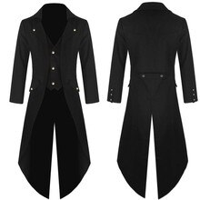 2019 Men Wedding Suit Male Blazers Gothic Slim Fit Suits For Men Costume Solid Blazer Formal Party Black Outwear Coat Suit B1