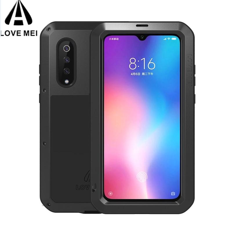 Gorilla glass for Huawei P20 Lite P30 Pro Case LOVE MEI Shock Dirt Proof Waterproof Metal Armor Phone Case for Huawei P40 Pro