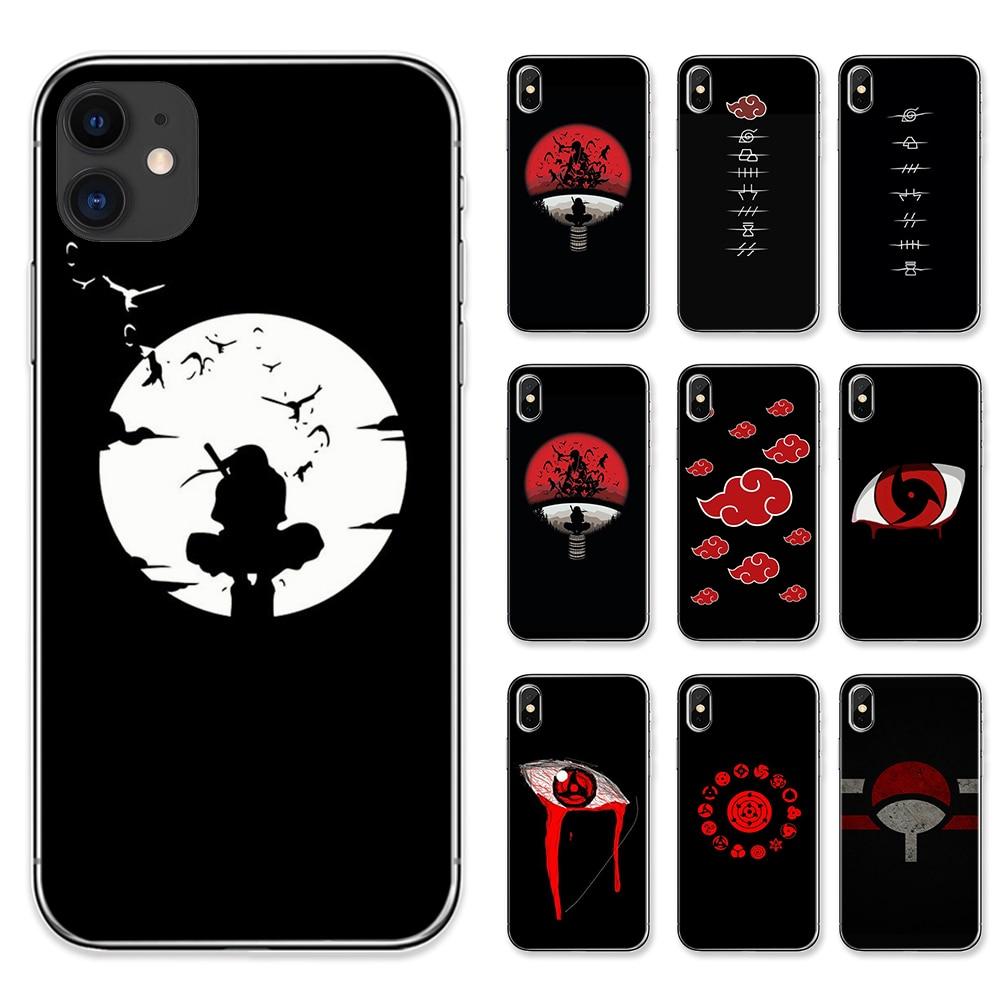 Capa de celular japonesa anime naruto itachi, para iphone 11 pro max 8 plus 7 plus 6s 5S se capas macias de tpu para x xs max xr