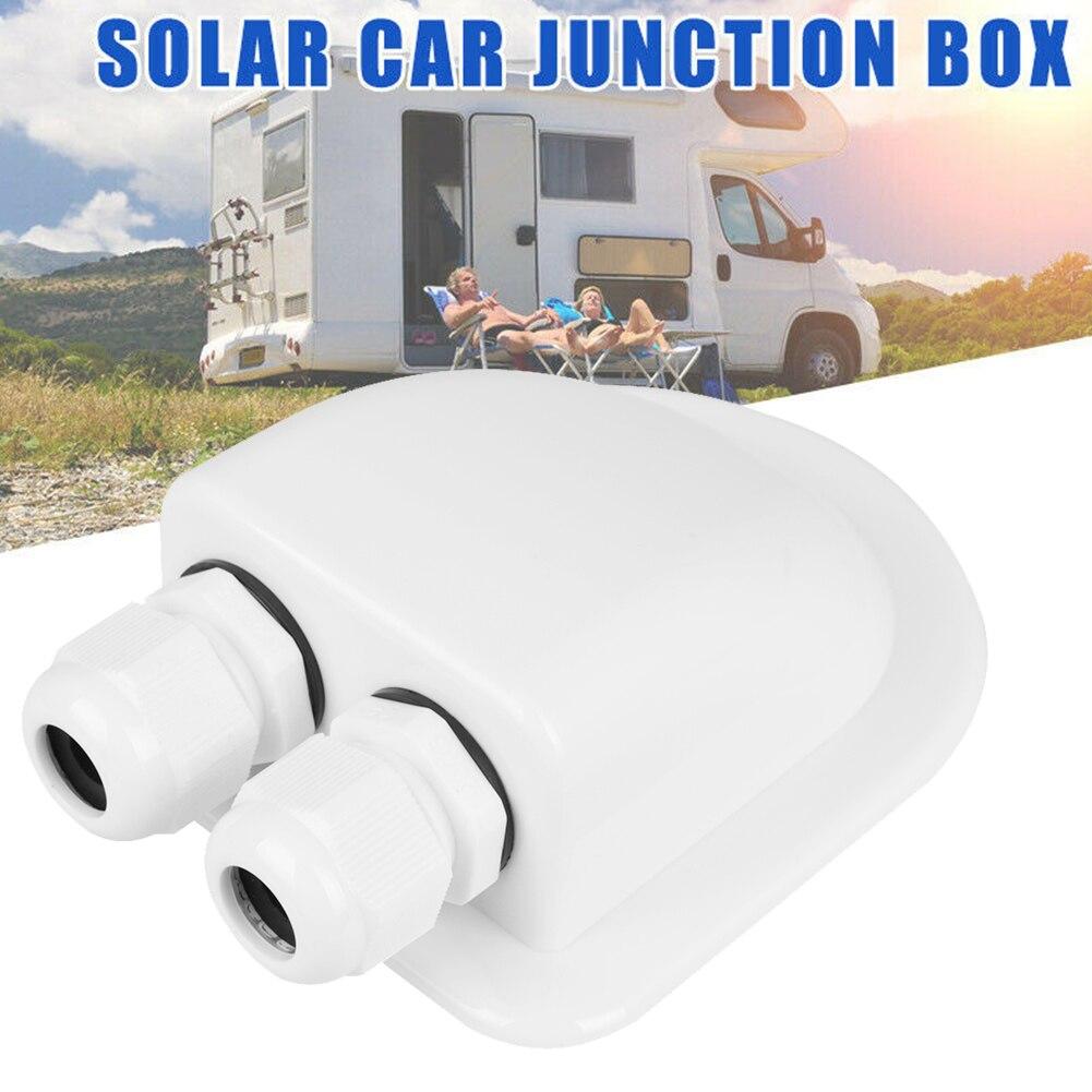 Водонепроницаемая распределительная коробка ABS с двойным кабельным входом для домов на колесах, солнечных панелей, автодомов, фургонов, фур...