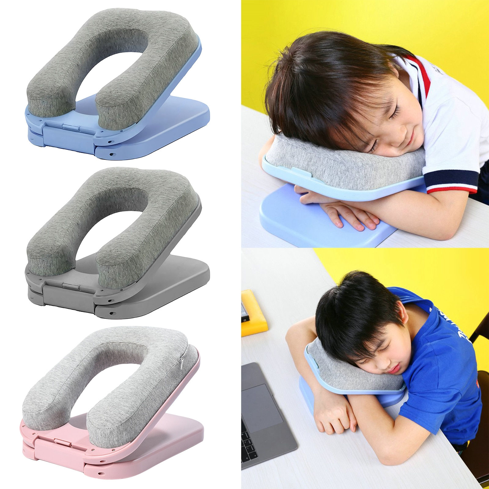 Portable U-Shaped Comfort Sleeping Travel Arm Neck Pillow Cushion for Airplane Car Best Travel Rest