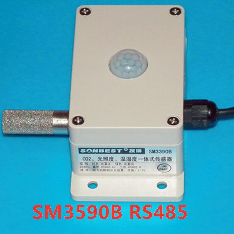 مستشعر درجة الحرارة والرطوبة SM3590B RS485, كثافة بصرية متكاملة