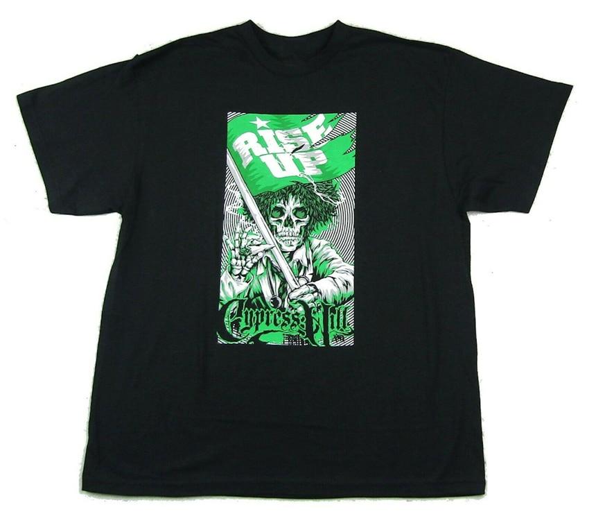 Cypress Hill Rise Up negro camiseta nueva Merch caliente verano Casual camiseta