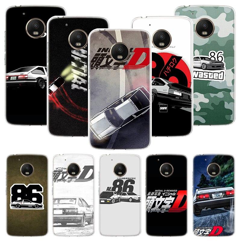 INITIAL D AE86 Phone Case For Motorola Moto G7 G8 G6 G5S G5 E6 E5 E4 Plus Power G4 Play X4 One Action EU Customized