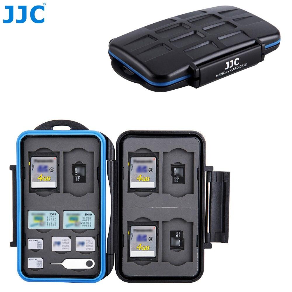 JJC водонепроницаемый чехол для карты памяти камеры 6 SD, 6 TF, 2 SIM, 2 Micro SIM, 2 Nano SIM карты компактный жесткий ящик для хранения