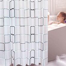 Cortina de baño PEVA resistente al agua, cortinas transparentes moho, decoración para el baño, cortinas con 12 uds, ganchos para productos de baño