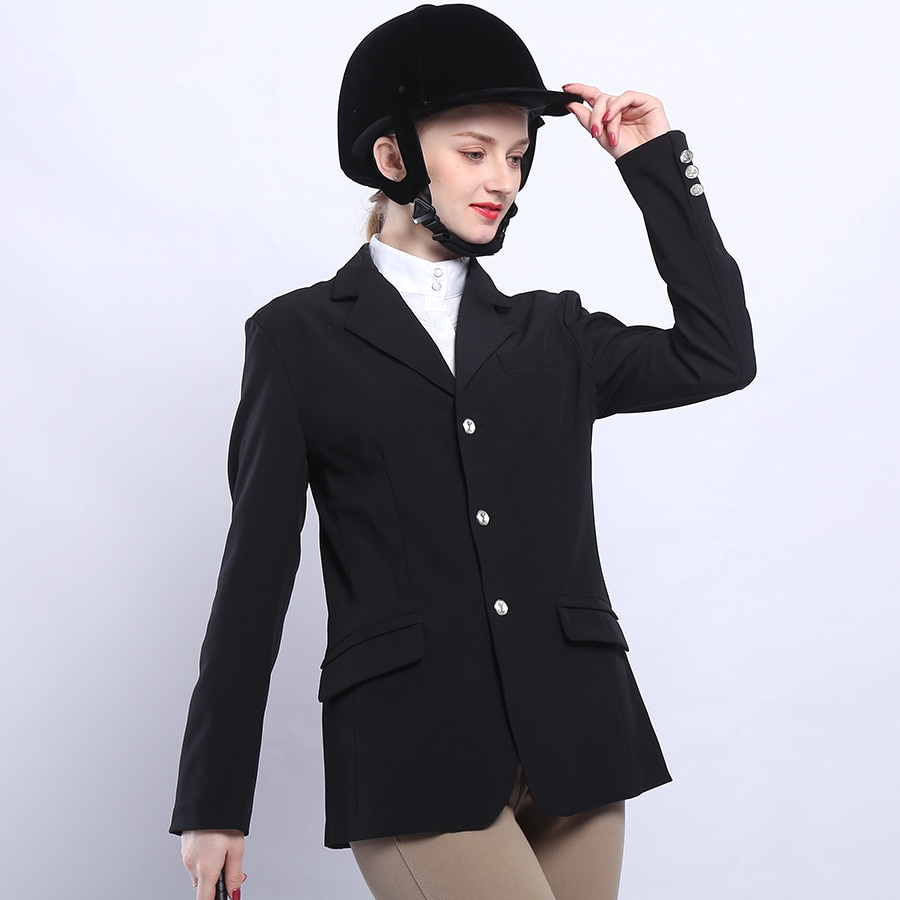 Horser Riding Jacket Women Men Equestrian Equipment Black Suit Blazer Coat Tops Horse Clothes For Riding Autumn Winter Clothing