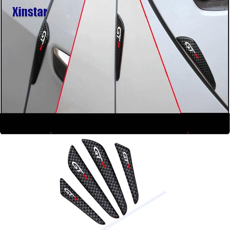 4pcs GT Auto Car Door Guard Edge Corner Protector For Peugeot 106 107 108 206 207 208 2008 3008 306 308 307 508 407