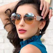 Fenchi óculos de sol feminino 400 oculos feminino óculos de sol máscaras espelho feminino zonnebril senhoras gafas de sol mujer