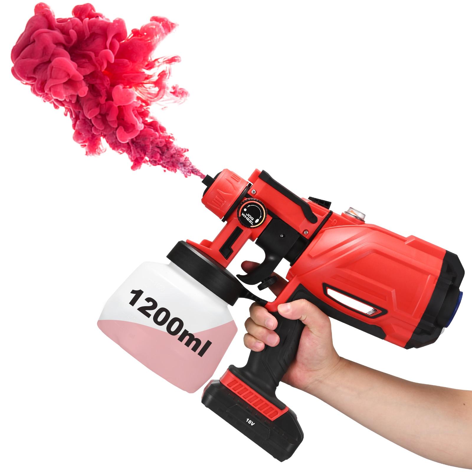 Electric Spray Gun 3 Spraying Modes 1200ml HVLP Household Paint Sprayer Flow Control Airbrush Portable Electric Paint Sprayer