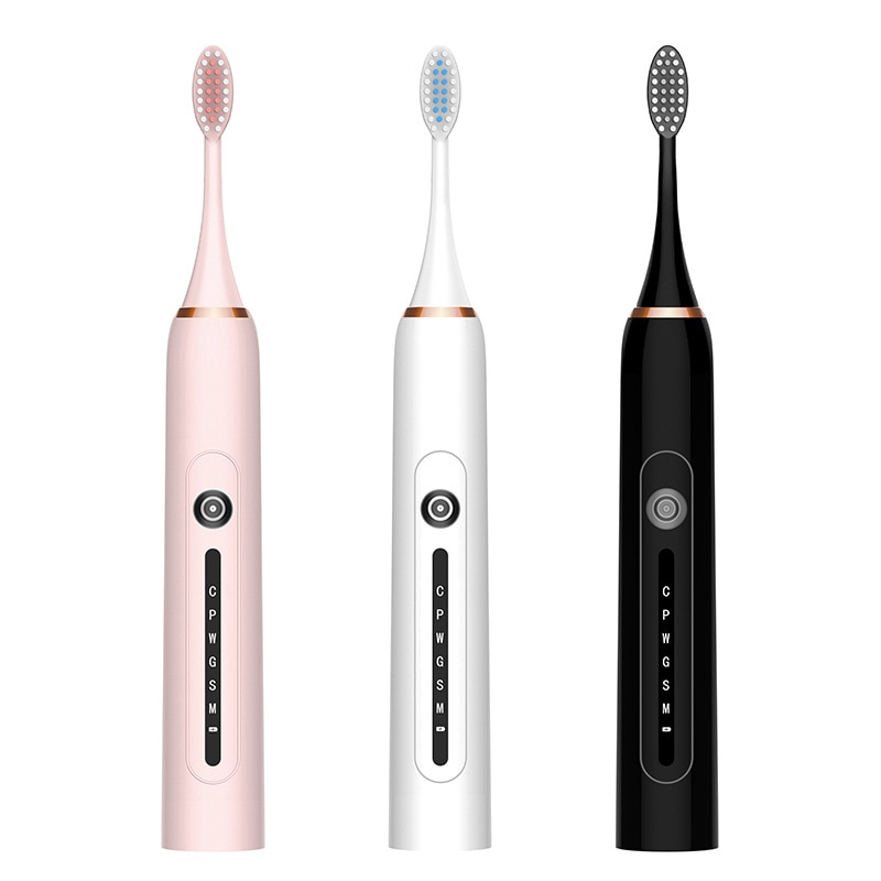 New Electric Toothbrush Adult Waterproof Automatic Sonic ToothBrush Rechargeable 6 Mode with 4 Brush Heads  Electric Toothbrush enlarge