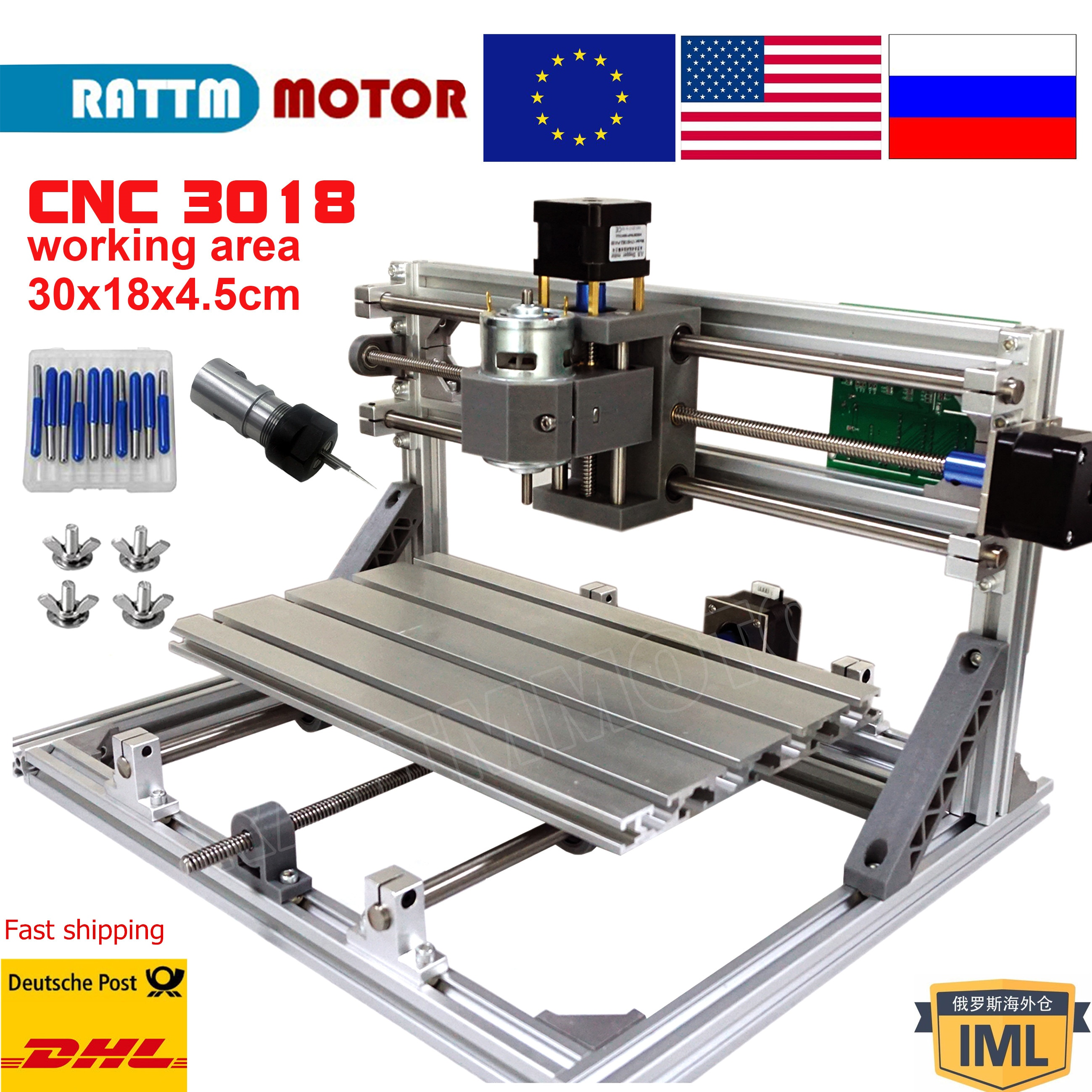 GRBL control CNC  Laser router mini machine 3018 3 Axis Pcb Pvc Woodworking engraving